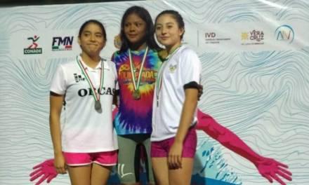 Hidalgo se carga de medallas en primer día de Nacional de Natación de Curso Largo Elite