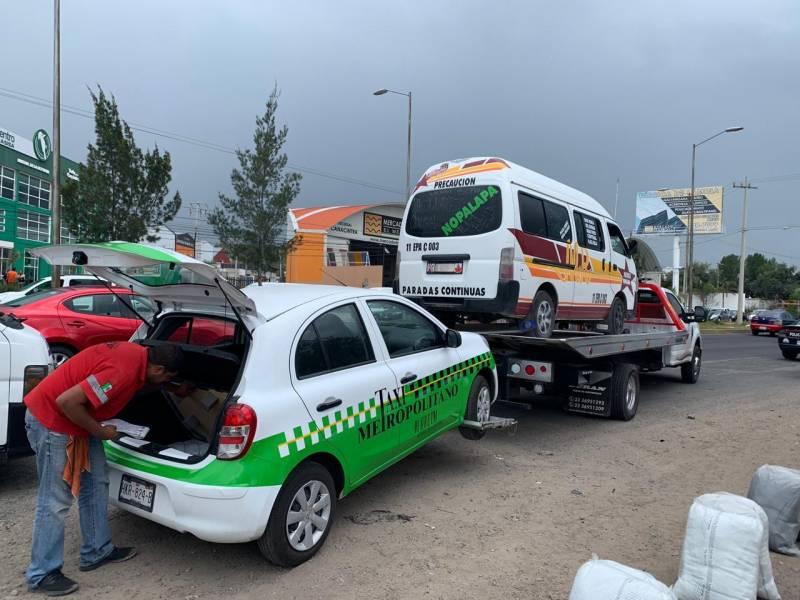 Remiten unidades del servicio público al corralón por falta de seguro