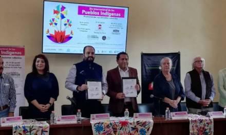 Firman convenio de colaboración Cultura y CDHEH a favor de pueblos indígenas