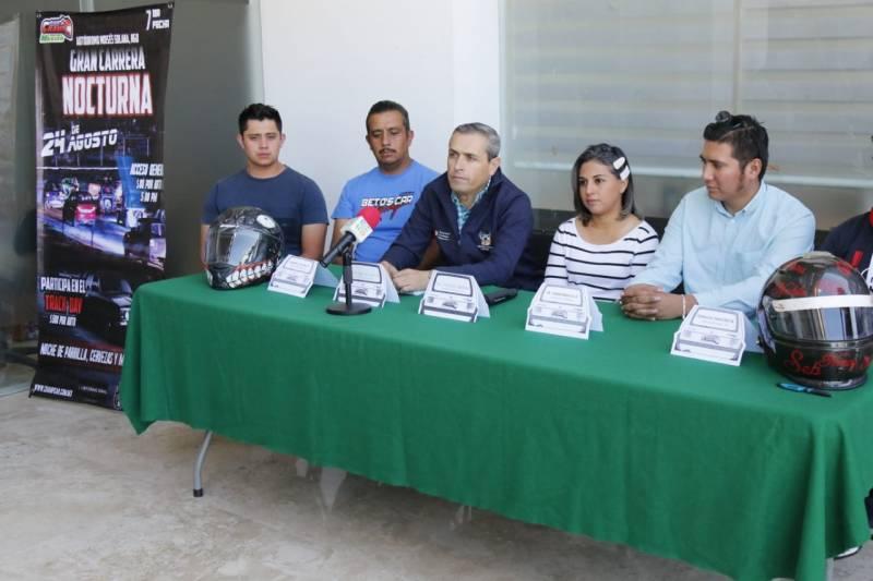 Todo listo para la Gran Carrera Nocturna, «Car Champ &Track Days México» en el Moisés Solana
