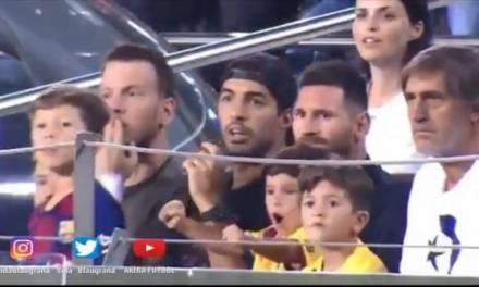 Hijo de Messi celebra un «no gol»