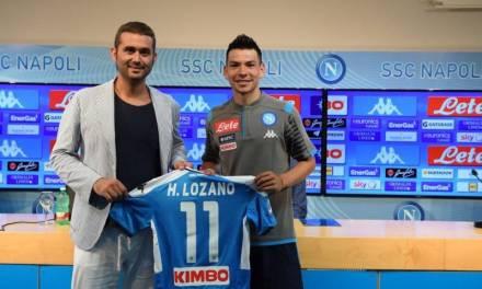 Presentan al Chucky Lozano con el Napoli; portará la playera 11