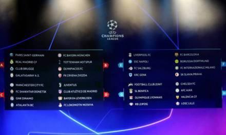 Realizan sorteo para la UEFA Champions League 2019-2020
