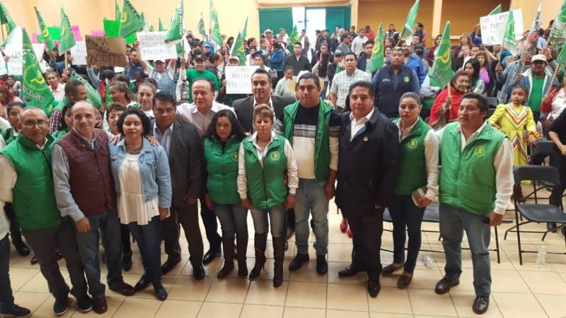 Yoseth Martínez tomó protesta como presidente  de la UNTA en MR