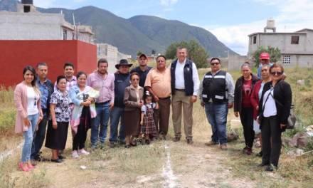 Realizan importante obra en colonia vulnerable de Tepeapulco