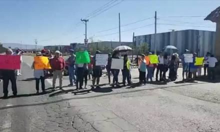 Bloquean carretera México – Pachuca en protesta contra Ayuntamiemto de Pachuca