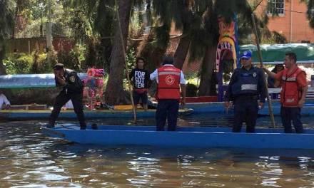 Localizan cuerpo del joven que cayó en Xochimilco