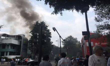 Se incendia edificio de Polanco