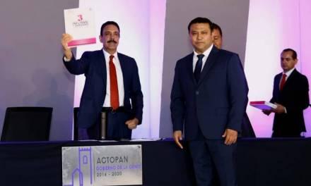 Acude Fayad a tercer informe de alcalde de Actopan