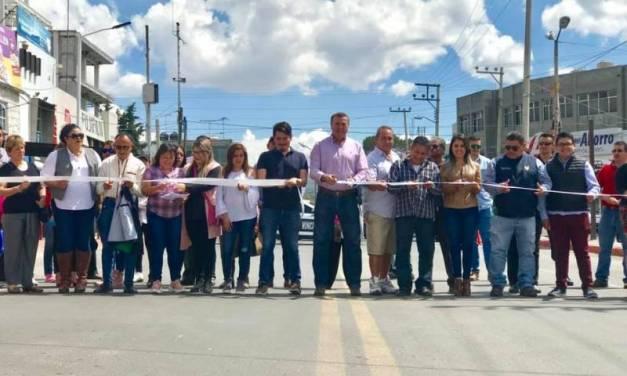 Inauguran ampliación de la avenida Fernando de Alba en Tepeapulco