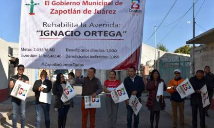 Inicia pavimentación de la calle Ignacio Ortega en Zapotlán de Juárez