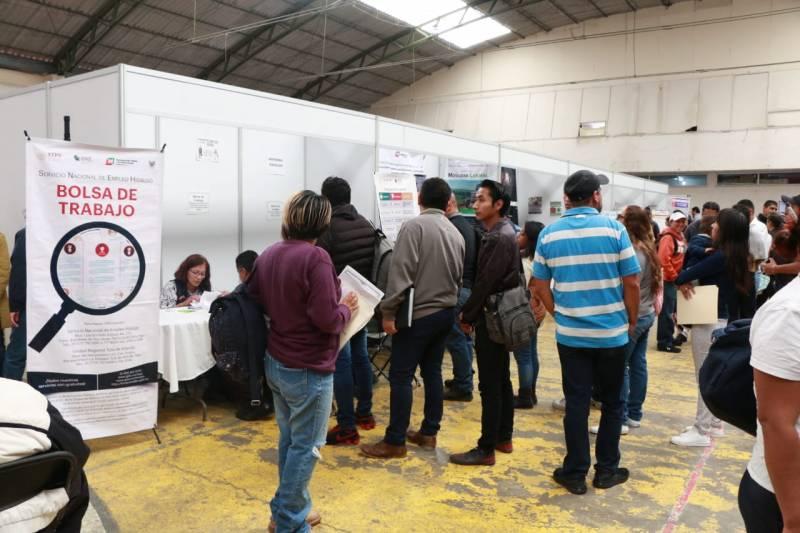 Participaron 40 empresas en la Feria de Empleo, Tizayuca 2019