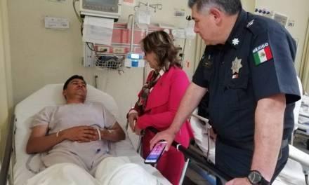 Fuera de peligro, policías que enfrentaron a sujeto en banco de Pachuca