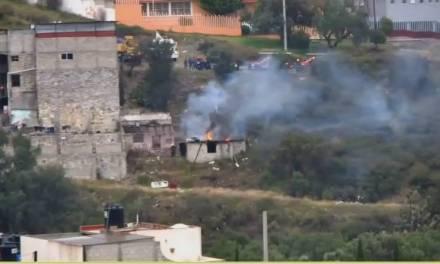 Se incendia casa abandonada en Pachuca