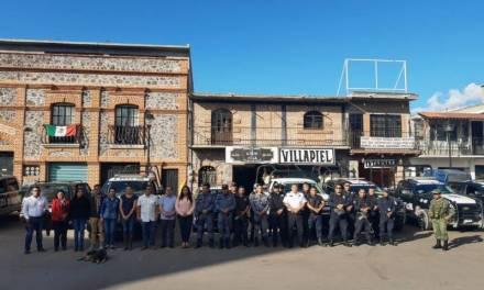 Llegan dependencias estatales y Federales de seguridad a Villa de Tezontepec