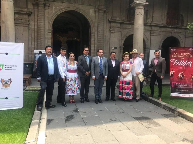 Todo listo para el Festival Internacional del Folklor de Hidalgo-México 2019