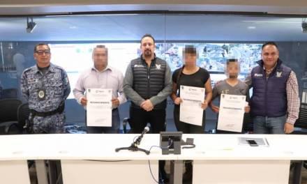 Reconoce SSPH a policías que frustaron robo a cuentahabiente en Actopan