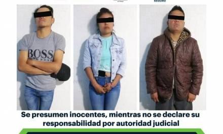 Asegura SSPH a 3 personas con arma de fuego en Mixquiahuala