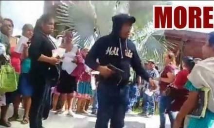Suspenden asamblea de Morena en Huejutla, por disparo de arma de fuego