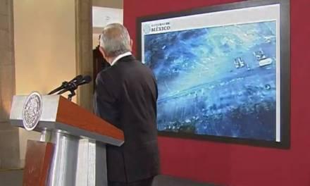 Critican a Amlo por usar Power Point para presentar inicio de Obras de Santa Lucía
