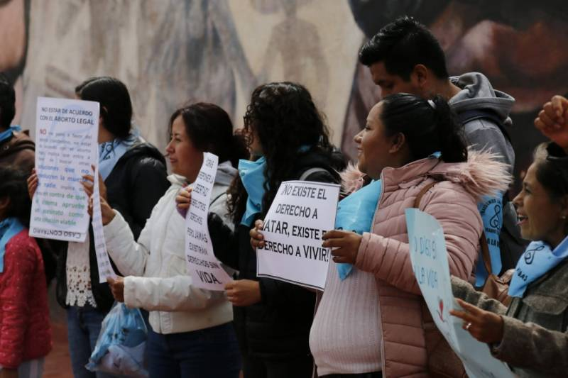 Ola Celeste se mantienen firme en contra de la despenalización del aborto