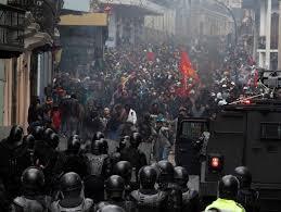 Declaran estado de excepción en Ecuador, por protestas