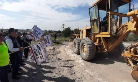 Inicia obra de pavimentación del acceso a la UPE