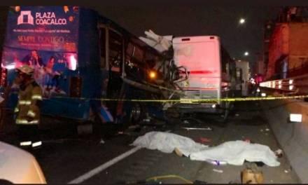 Chocan 3 autobuses en la México- Pachuca, hay varios muertos