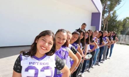 Equipo femenil de tochito bandera de la UPP son campeonas de la Liga Tocho 5 Tecámac