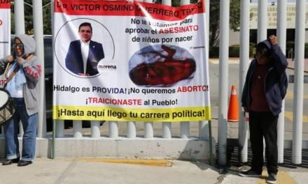 Asael Hernández reprueba las «formas» de manifestación de grupos Provida