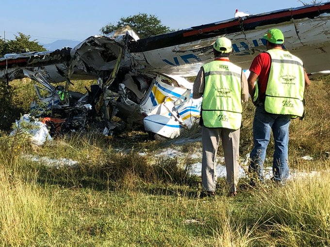 Cae avioneta en Temixco Morelos; murieron dos personas