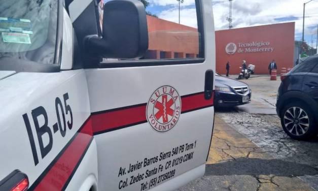 Hieren a una persona en el Tec de Monterrey campus Santa Fe