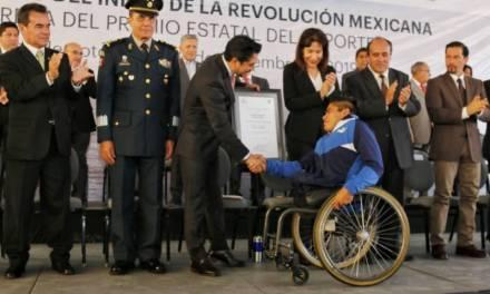 Olvera y Gayosso, recibieron el Premio Estatal del Deporte