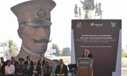 Rinden homenaje por el centenario del fallecimiento del  general Felipe Ángeles