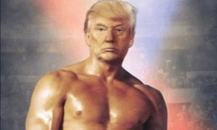 Trump publica fotomontaje con cuerpo de Rocky Balboa