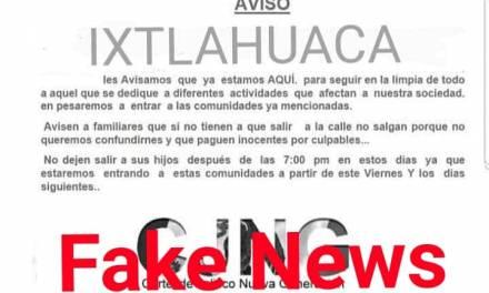 Alertan sobre noticias falsas en la Región de Tizayuca que generan pánico colectivo