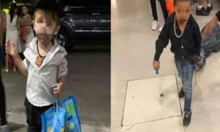 Autoridades buscan a padres de niños disfrazados de sicarios