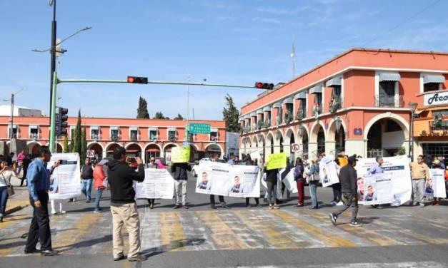 Un mes sin Sebastián, sus familiares se manifiestan en centro de Pachuca