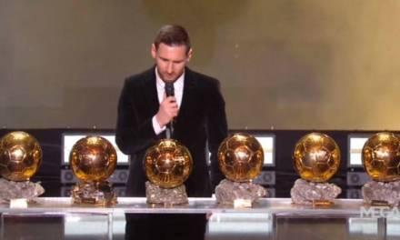 Messi gana su sexto balón de oro