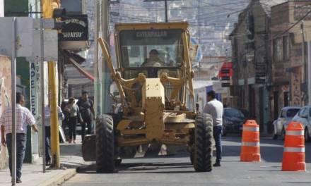 SOPOT Inicia rehabilitación en calle Abasolo de Pachuca
