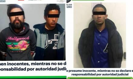 Asegura SSPH a tres hombres por presuntas actividades delictivas