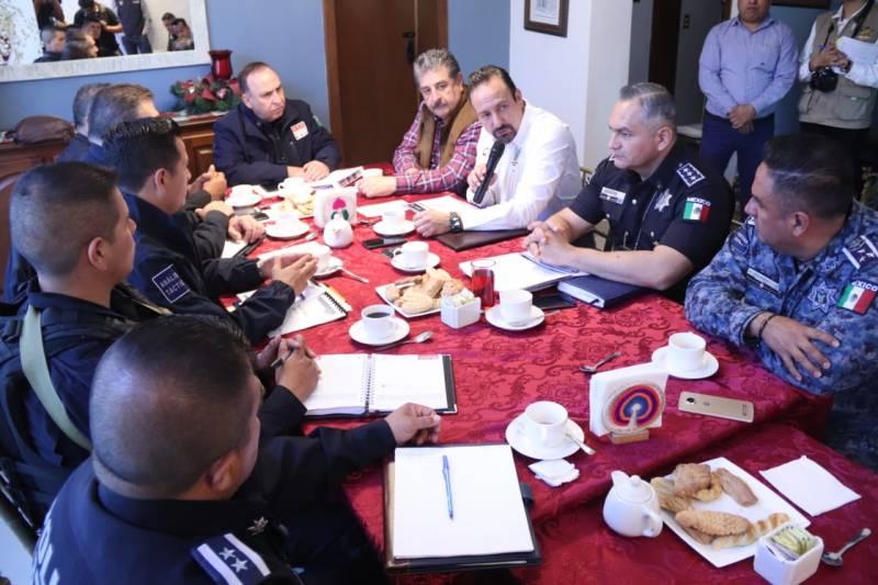 Fusionarán operativos limítrofes Secretarías de Seguridad de Tlaxcala, Puebla e Hidalgo