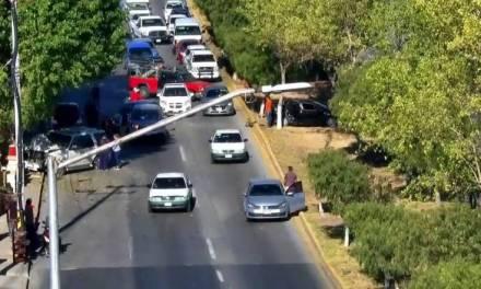 Al menos dos lesionados deja carambola en el bulevar Nuevo Hidalgo