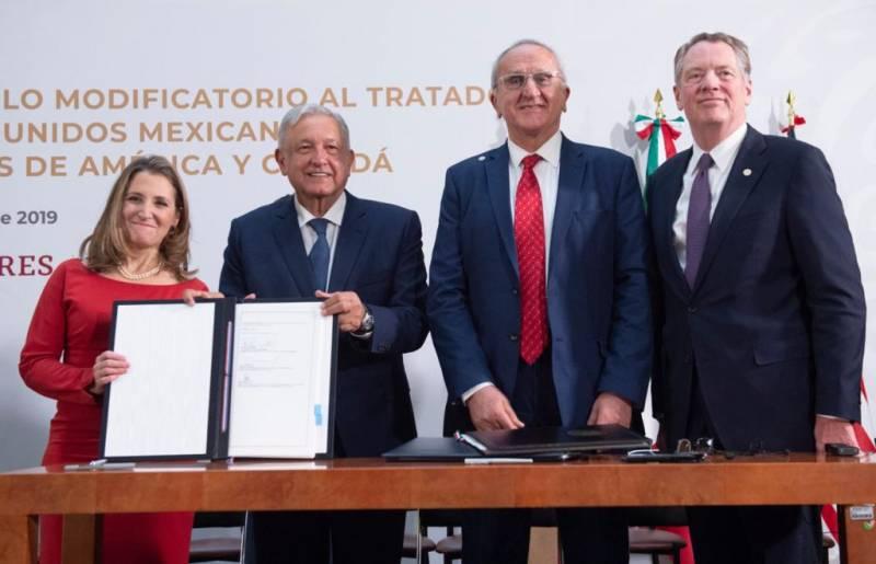 Firman cambios en T-MEC Canadá, Estados Unidos y México