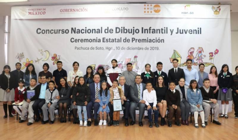 Gobierno de Hidalgo premia ganadores del Concurso Nacional de Dibujo Infantil y Juvenil