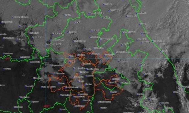 Continúa descenso térmico vespertino en Hidalgo