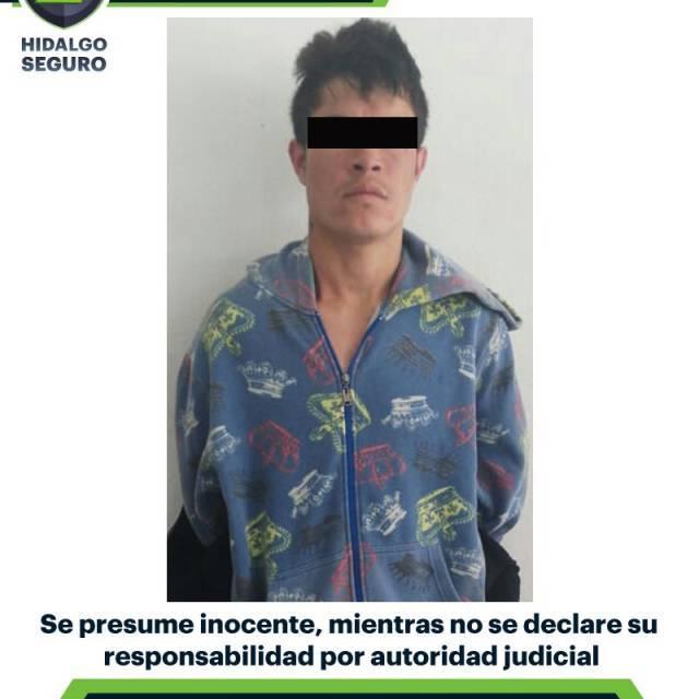 Asegura SSPH a presunto asaltante en Pachuca