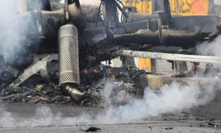 Confirman fallecimiento del conductor de la pipa incendiada