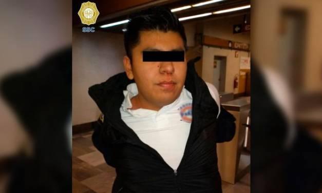 Sujeto le arrancó parte de la nariz a un policía, en el metro de la CDMX