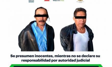 Tras persecución, asegura SSPH a 2 hombres armados en Ixmiquilpan